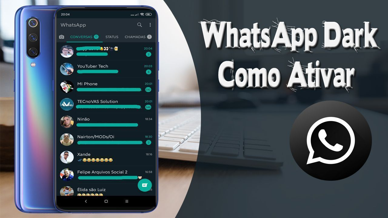 DD - Como Ativar o Dark Mode No WhatsApp