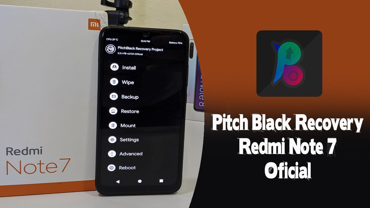 Pitch Black Recovery Oficial No Redmi Note 7